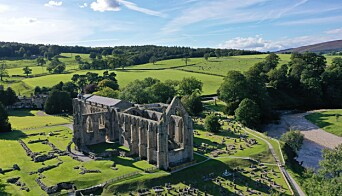 An aerial view of Bolton Priory in the Yorkshire Dales. PA Photo. Picture date: Tuesday July 28, 2020. Photo credit should read: Richard McCarthy/PA Wire
