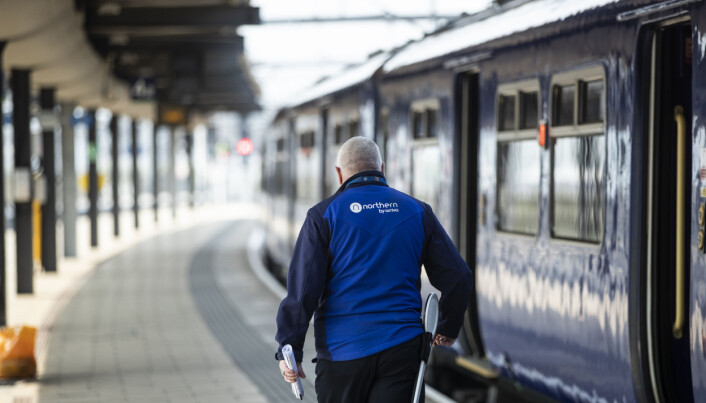 A Northern employee at Leeds train station.