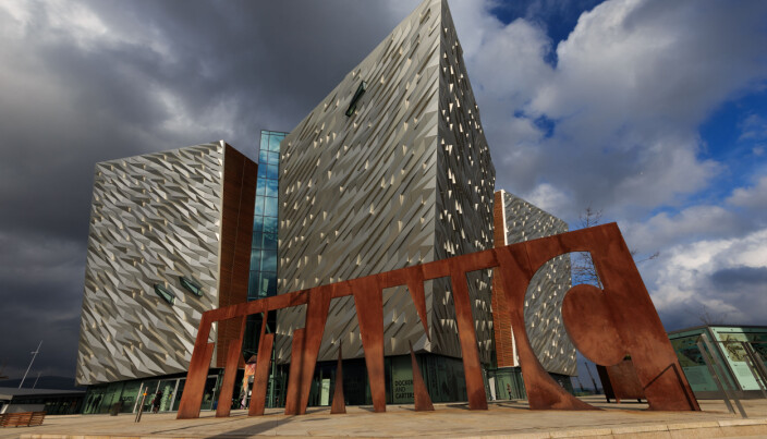 A general view of the Titanic Museum on the site of the former Harland & Wolff shipyard in Belfast's Titanic Quarter.