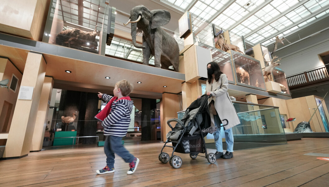 Charlotte Griffiths, 25, with her three year old son Robert from Morpeth Northumberland at the Great North Museum in Newcastle, as indoor hospitality and entertainment venues reopen to the public following the further easing of lockdown restrictions in England. Picture date: Monday May 17, 2021.