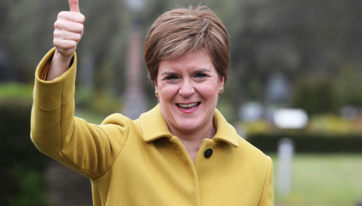 Scottish First Minister and SNP leader Nicola Sturgeon during a visit to Airdrie, North Lanarkshire, after the SNP won a fourth victory in the Scottish Parliament election. Picture date: Sunday May 9, 2021.