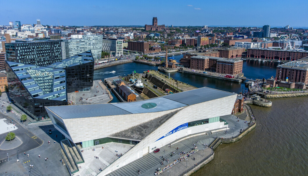 A aerial view of The Royal Albert Dock and Liverpool Museum. Picture date: Monday May 31, 2021.