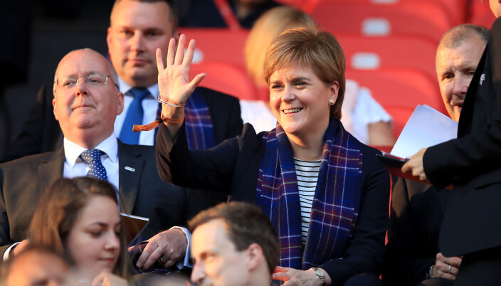 First minister of Scotland Nicola Sturgeon in the stands during the UEFA Women's Euro 2017, Group D match at Stadion Galgenwaard, Utrecht. PRESS ASSOCIATION Photo. Picture date: Wednesday July 19, 2017. See PA story SOCCER England Women. Photo credit should read: Mike Egerton/PA Wire. RESTRICTIONS: Editorial use only, No commercial use without prior permission.