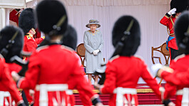 Military parade marks Queen's official birthday