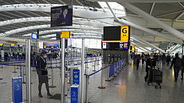 Covid: Number of UK air passengers down 75% on previous year