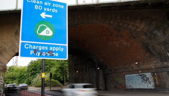Signs in Birmingham informing road users of the clean air zone initiative, which will come into place on June 1.