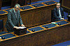 DUP leader Edwin Poots making his nomination and Lagan Valley MLA Paul Givan at a special sitting of the Stormont Assembly in Parliament Buildings in Belfast.