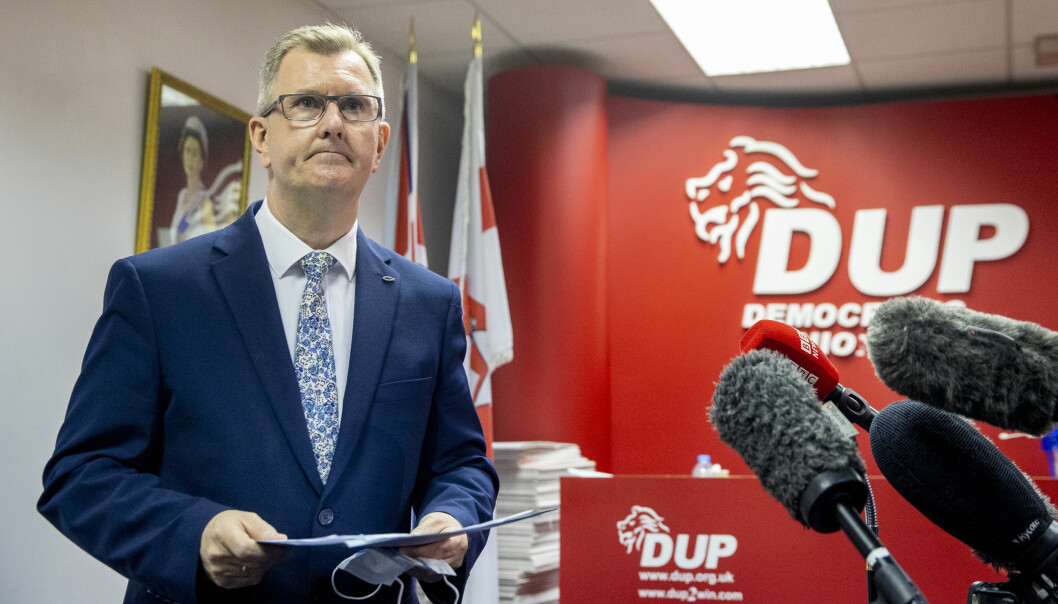 File photo dated 3/5/2021 of DUP MP for Lagan Valley Sir Jeffrey Donaldson, who has confirmed he has submitted his name to become the next leader of the DUP. Issue date: Monday June 21, 2021.