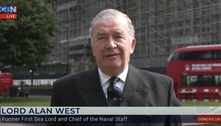 """Lord Alan West said Russia's version of the incident was """"not true."""""""