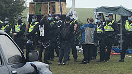 Covid: Dozens of arrests made after 2,000 flock to rave in Sussex countryside