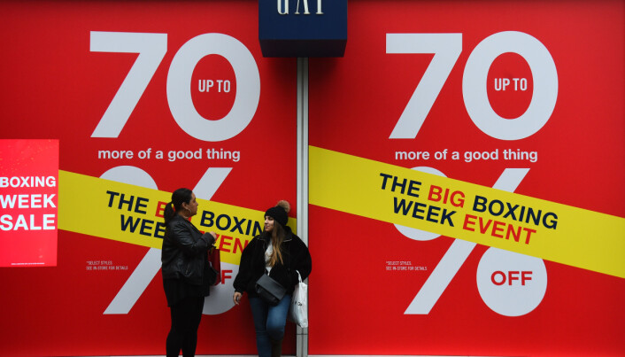 Shoppers outside the Gap store in London during the Boxing Day sales.