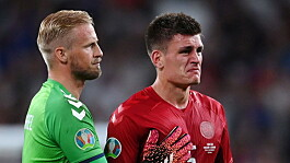 England charged by UEFA after laser pointed at Denmark goalkeeper Schmeichel before Kane penalty