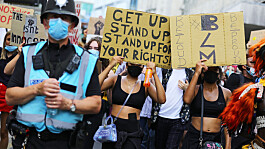 What impact is Black Lives Matter having on police relations with Britons?