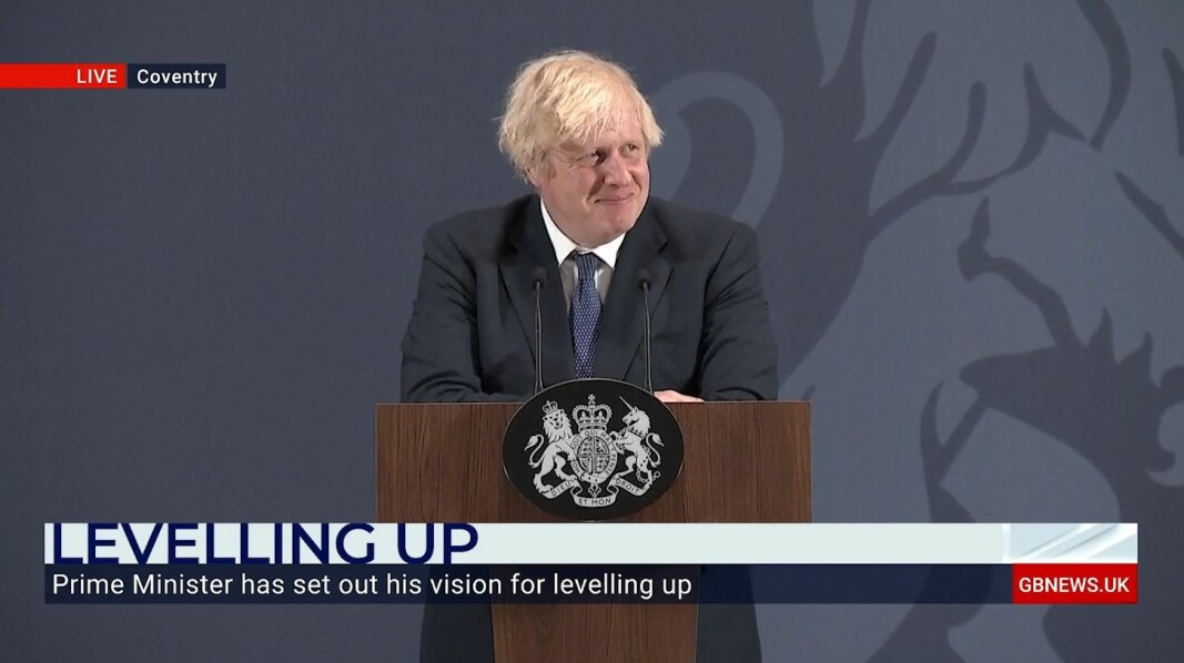 Boris Johnson delivered his speech UK Battery Industrialisation Centre in Coventry.