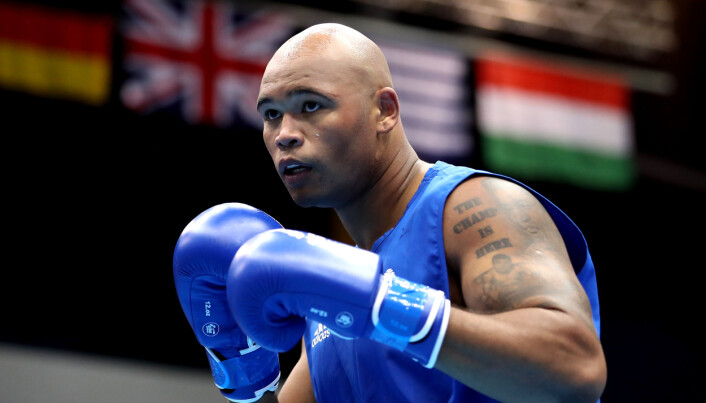 Great Britain's Frazer Clarke, who is looking to secure a gold medal in the super-heavyweight boxing.