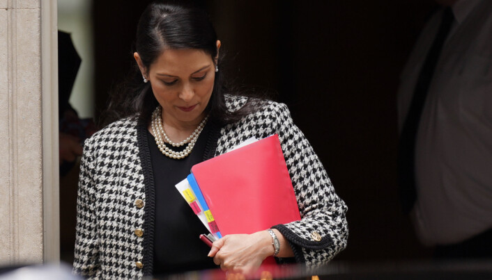 Home Secretary Priti Patel leaves 10 Downing Street, Westminster, ahead of an expected update from the Government on green list destinations for overseas travel. Picture date: Thursday June 24, 2021.