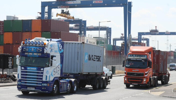 Lorries at Belfast Harbour. The UK has demanded significant changes to Northern Irelands post-Brexit trading arrangements but has held back from tearing up parts of the deal. Picture date: Wednesday July 21, 2021.