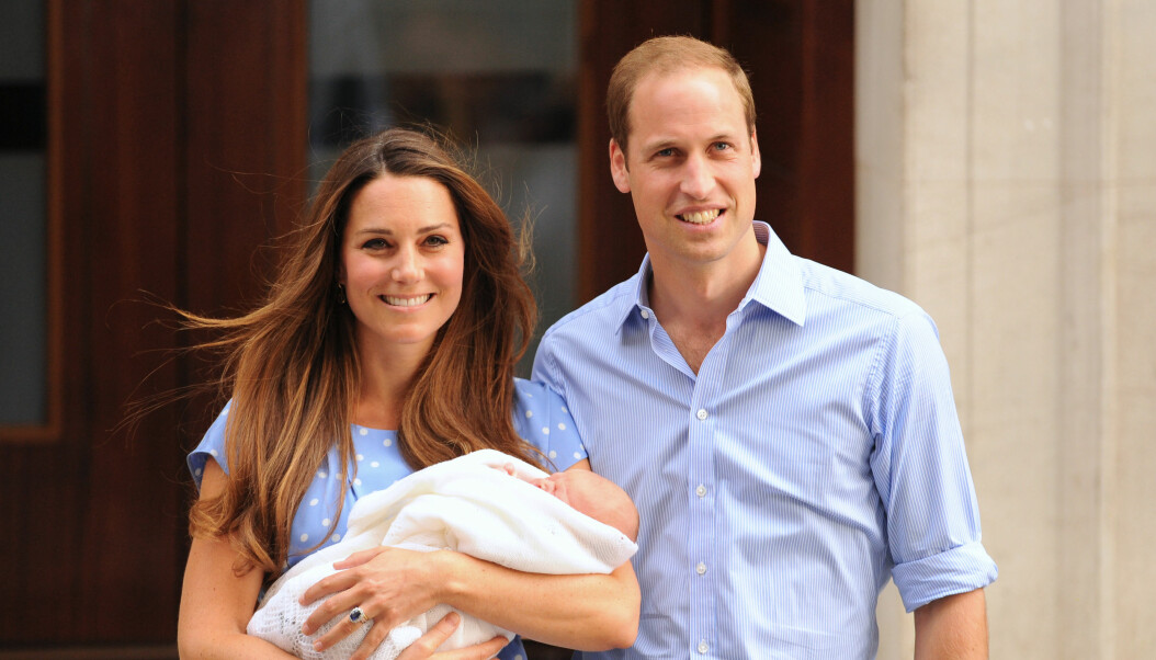 The Duke and Duchess of Cambridge leaving the Lindo Wing of St Mary's Hospital in London, with Prince George of Cambridge.