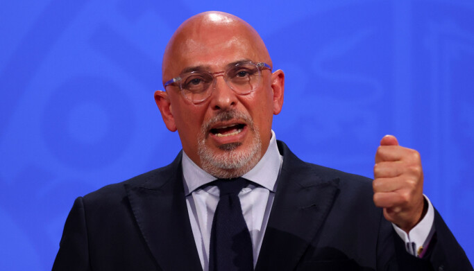 Vaccines minister Nadhim Zahawi, during a media briefing in Downing Street.