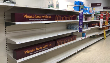 Shop shelves have been left empty after staff shortages in supermarkets - but shop floor workers will not be exempt.