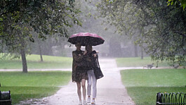 UK weather: Scattered showers with warm sunshine after flooding in London
