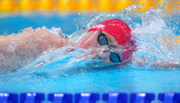 Great Britain's Tom Dean during the Men's 4 x 200m Freestyle Relay heat 2 at the Tokyo Aquatics Centre.