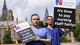 Nursing union to protest 3% pay rise for NHS staff in 'summer of action'