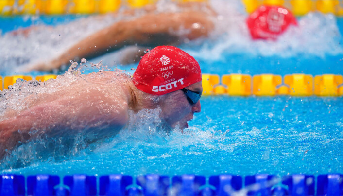Great Britain's Duncan Scott in action in the Men's 200m Individual Medley semi finals during the Swimming at the Tokyo Aquatics Centre on the sixth day of the Tokyo 2020 Olympic Games in Japan. Picture date: Thursday July 29, 2021.