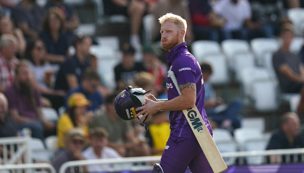 Northern Superchargers' Ben Stokes leaves the game after being dismissed for five runs during The Hundred match at Trent Bridge, Nottingham.