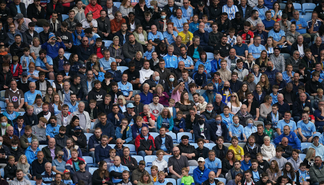 Coventry City fans watch the action during the pre-season friendly match at the Coventry Building Society Arena.