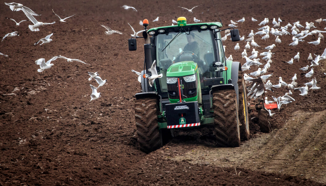 A farmer ploughs a field in North Yorkshire. Picture date: Wednesday March 10, 2021.