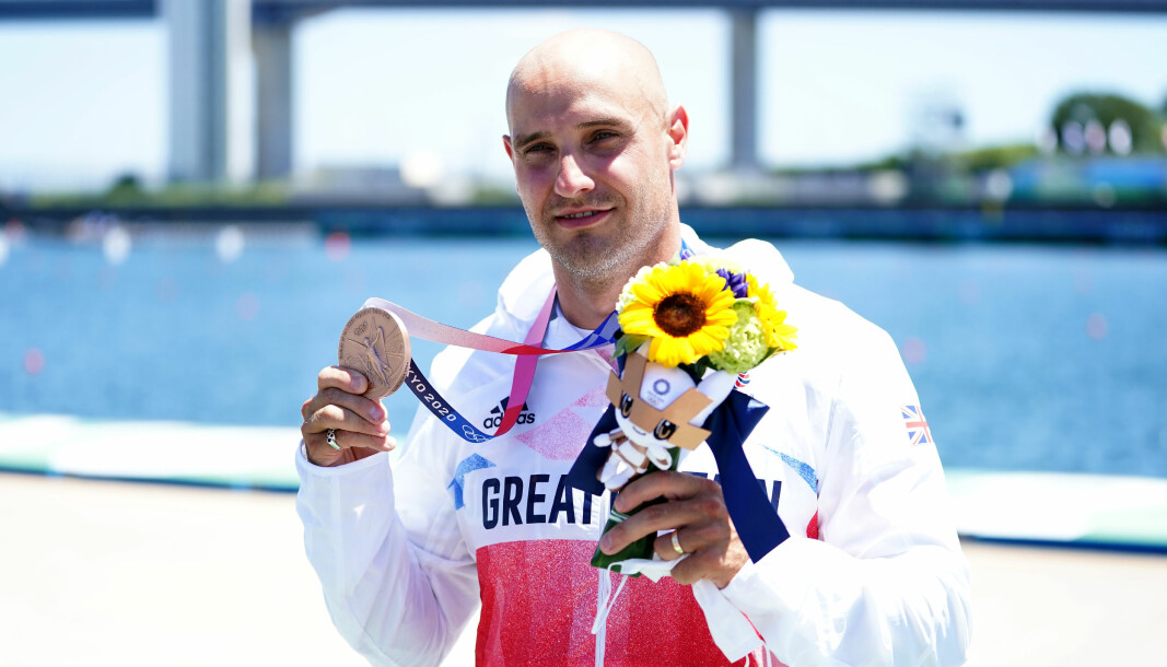 Great Britain's Liam Heath after winning bronze in the Men's Kayak Single 200m Finals at the Sea Forest Waterway on the thirteenth day of the Tokyo 2020 Olympic Games in Japan. Picture date: Thursday August 5, 2021.