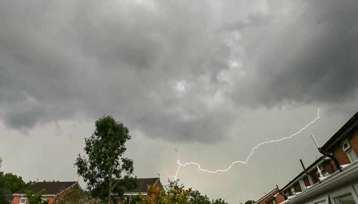 Lightening could damage buildings.