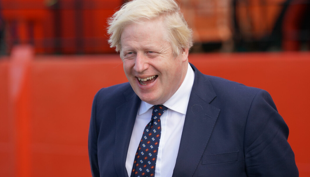 Prime Minister Boris Johnson in Fraserburgh Harbour, Aberdeenshire, as he journeys to the Moray Offshore Windfarm East during his visit to Scotland. Picture date: Thursday August 5, 2021.