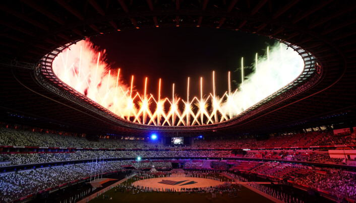 Fireworks are seen during the closing ceremony of the Tokyo 2020 Olympic Games at the Olympic stadium in Japan. Picture date: Sunday August 8, 2021.