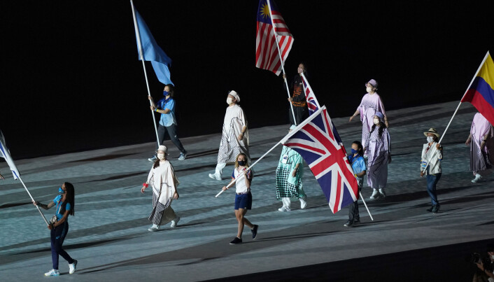 Great Britain's Laura Kenny carrying the Union Jack flag during the closing ceremony of the Tokyo 2020 Olympic Games at the Olympic stadium in Japan. Picture date: Sunday August 8, 2021.
