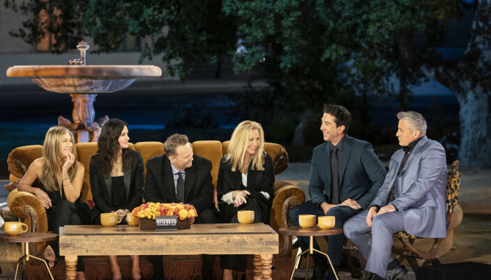 The Friends reunion special, after years of speculation, the cast (Jennifer Aniston, Courteney Cox, Lisa Kudrow, Matt LeBlanc, Matthew Perry and David Schwimmer) reunited for a one-off special.