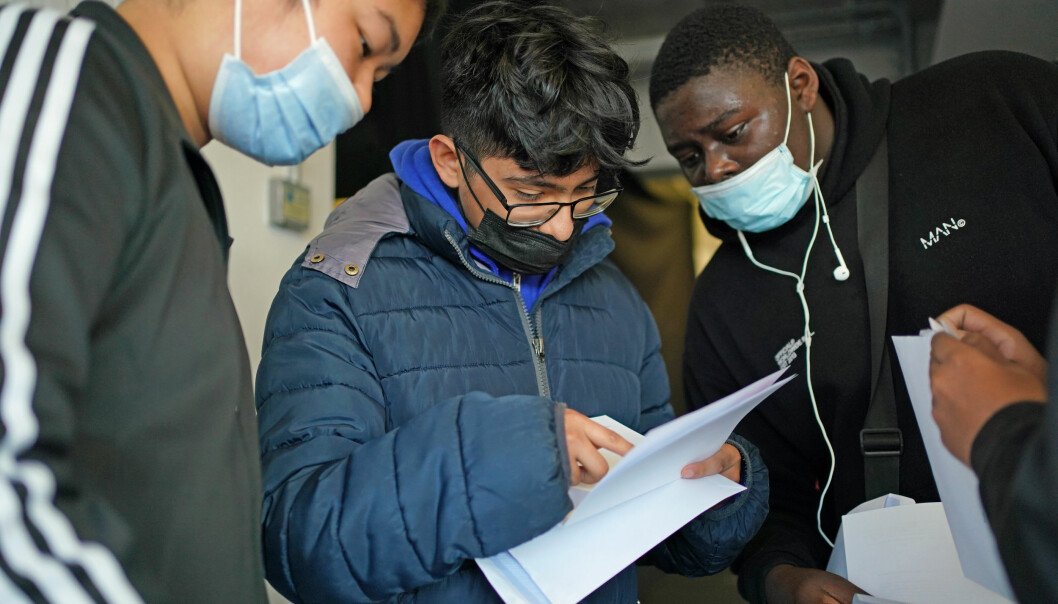 Students open their GCSE results at CORE's City Academy in Birmingham. Picture date: Thursday August 12, 2021.