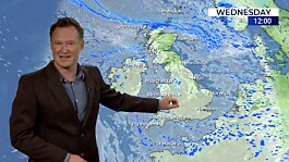 Weather: Unsettled skies with patchy rain and cloud