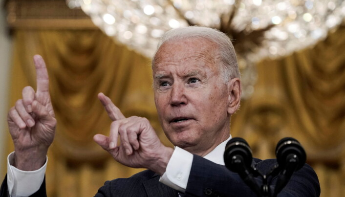 U.S. President Joe Biden delivers remarks on evacuation efforts and the ongoing situation in Afghanistan during a speech in the East Room at the White House in Washington, U.S.