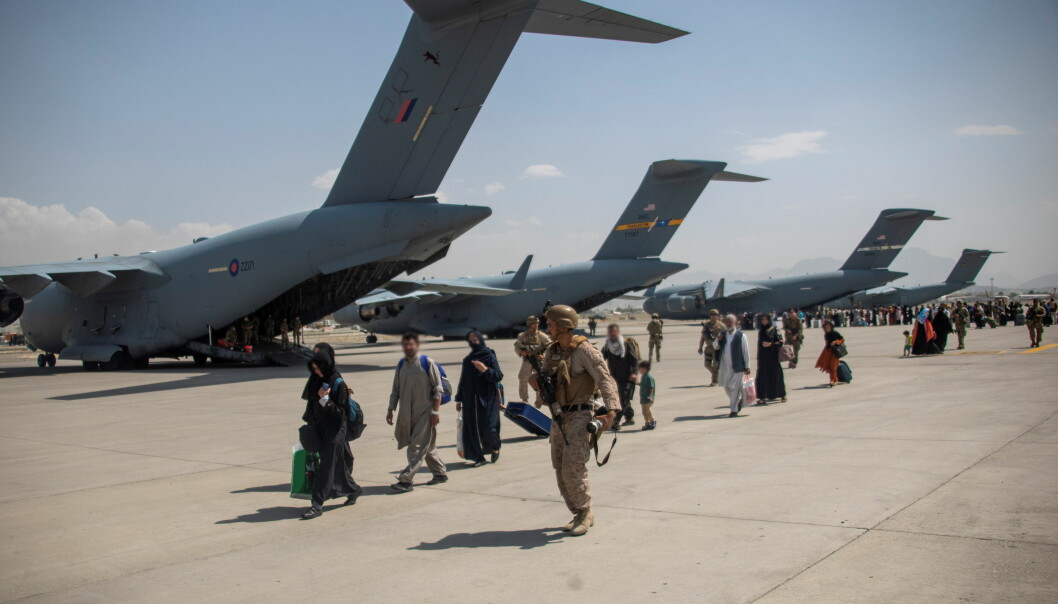 Members of the UK Armed Forces continue to take part in the evacuation of entitled personnel from Kabul airport, in Kabul, Afghanistan August