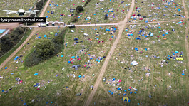 Clean-up operation begins after tents and rubbish left at Reading Festival