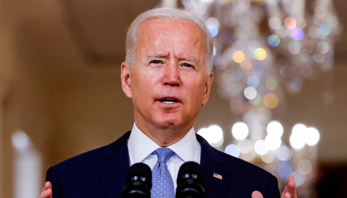 US president Joe Biden defends the withdrawal from Afghanistan during an address to the media.
