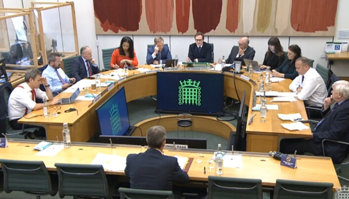 Foreign Secretary Dominic Raab giving evidence to the Commons Foreign Affairs Committee in London, about the Government's handling of the Afghanistan crisis. Picture date: Wednesday September 1, 2021.