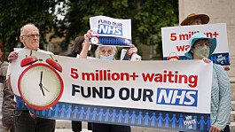 NHS waiting list 'limbo' protest by pensioner in London