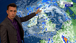 Weather: Cloudy today, some showers, heaviest in east and north