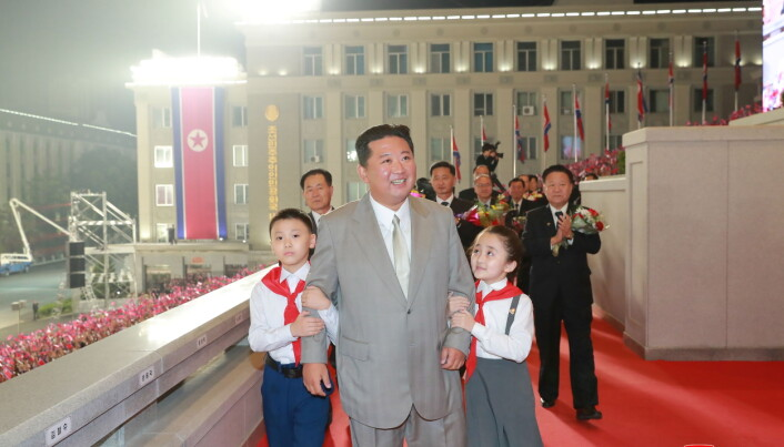 North Korea leader Kim Jong Un attends a paramilitary parade held to mark the 73rd founding anniversary of the republic at Kim Il Sung square in Pyongyang in this undated image supplied by North Korea's Korean Central News Agency on September 9, 2021.