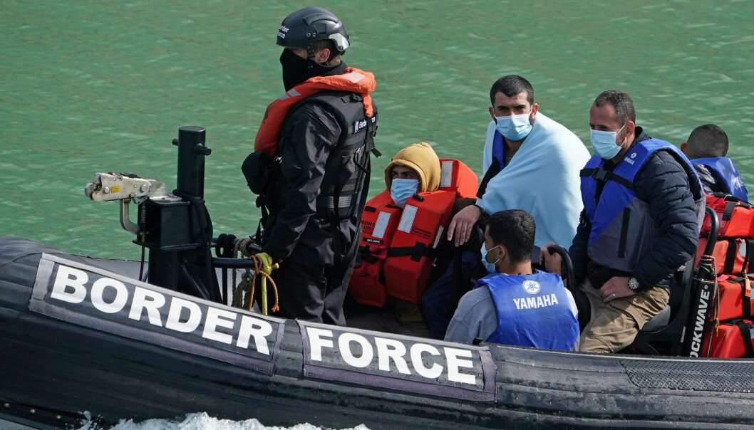 A group of people thought to be migrants are brought in to Dover, Kent, by a Border Force patrol boat following a small boat incident in the Channel. Picture date: Monday September 13, 2021.