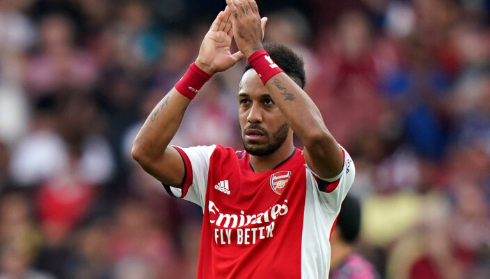 Arsenal's Pierre-Emerick Aubameyang applauds the fans after their 1-0 win over Norwich at Emirates Stadium.