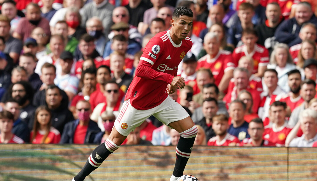 Manchester United's Cristiano Ronaldo during the Premier League match at Old Trafford, Manchester. Picture date: Saturday September 11, 2021.